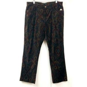 Ralph Lauren NWT Bootcut Pants Velour Paisley 16